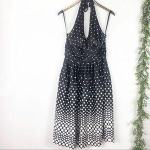 Eliza J Retro Pinup Polka Dot Halter Dress 10